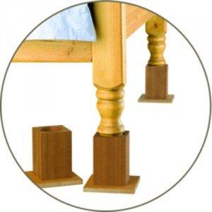 Rehausseurs bois Homecraft - La lampe avec fixation socle à poser.