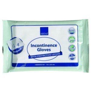 Gants de toilette imprégnés - Le paquet de 4, dim 15 x 22 cm