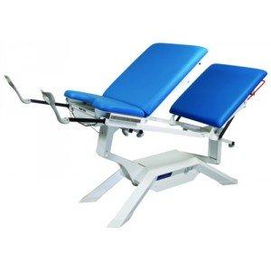 Divan iDuolys mixte électrique - Le divan avec étriers sur étaux et roues escamotables.