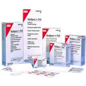 Pansement adhésif 3M™ Medipore™ + Pad* - La boîte de 100 stériles, dim. 6 x 7 cm.