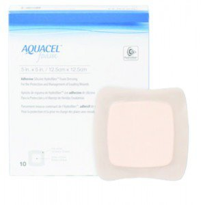 AQUACEL™ Foam Adhésif - La boîte de 10, dim 8 x 8 cm