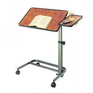 Table de lit avec tablette - La table ronce de noyer