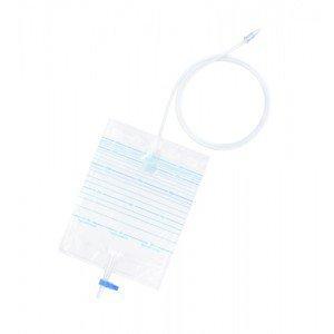 Poches à urine - La boîte de 30 poches de jambe 500 ml (tubulure 50 cm)