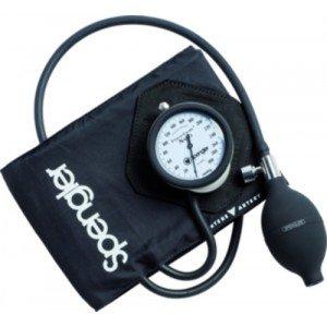 Tensiomètre manopoire Shockproof Vaquez Laubry® Nano - Avec brassard velcro coton rouge adulte (M).