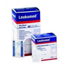 Pansements adhésifs post-opératoires Leukomed® - La boîte de 50, dim. 5 x 7,2 cm.