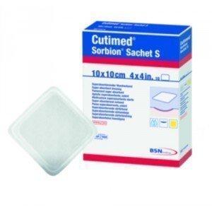 Pansements superabsorbants hydro-actifs Cutimed® Sorbion® - La boîte de 10, dim. 10 x 10 cm.