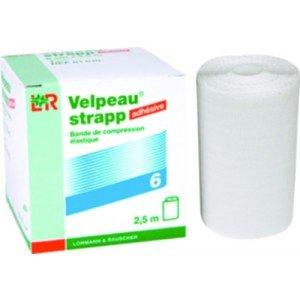 Bande de compression élastique adhésive Velpeau® strapp* - Dim. 2,5 m x 10 cm.