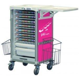 Chariot de distribution Pili cart - Le chariot vert pomme.