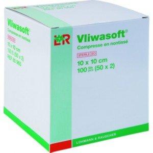 Compresses en non tissé Vliwasoft®* - Dim. 5 x 7 cm.