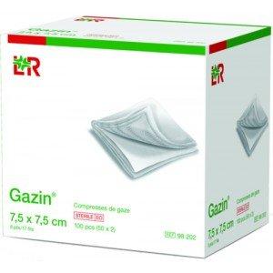 Compresses de gaze Gazin®* - 8 plis, dim 7,5 x 5 cm