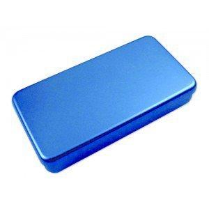 Boîte aluminium - Bleu, dim L 170 x l 70 x H 30 mm