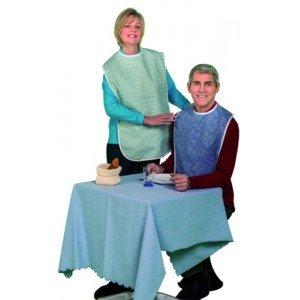 Chemise de malade et bavoir - Manches et jambes courtes.