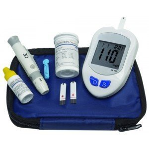 Kit d'autosurveillance glycémique - Le thermomètre violet.