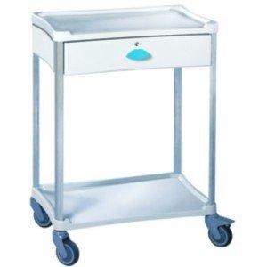 Guéridon standard Résine® 600 x 400 2 plateaux + 1 tiroir - Le guéridon vert pomme.