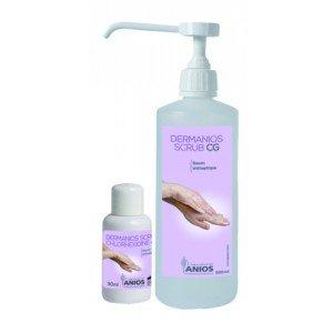 Dermanios Scrub - Le flacon pompe de 500 ml parfumé et coloré.