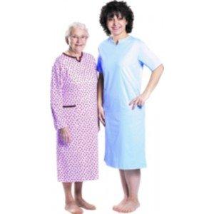 Chemise de nuit Marie-Noëlle - Manches courtes, coloris imprimés.