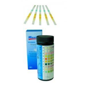 Lecteur de bandelettes urinaires - La boîte de 50 bandelettes de paramètre 8