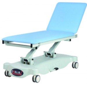Divan Ovalia V2 hydraulique - Le divan avec étriers escamotables et patins.